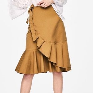 Who What Wear Ruffled Midi Skirt